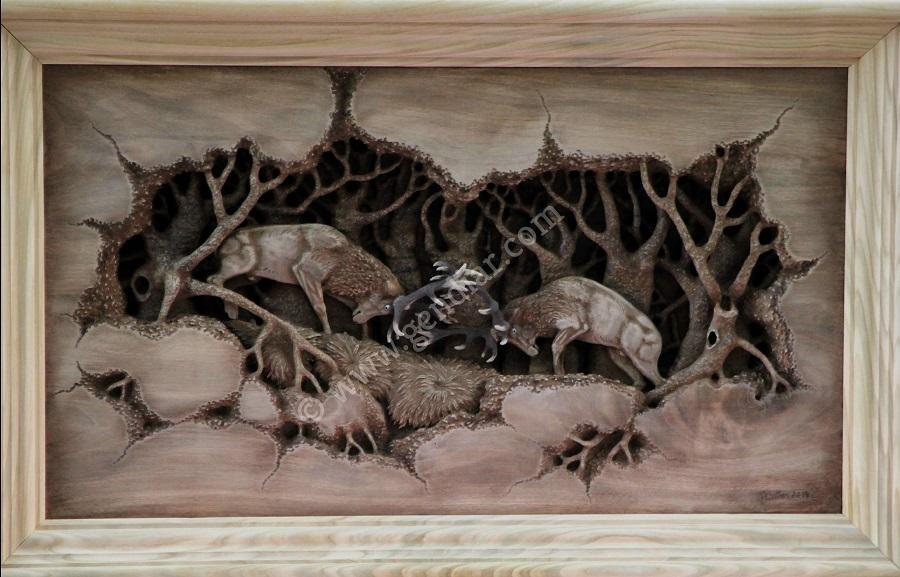 Drevený obraz - Holzbild