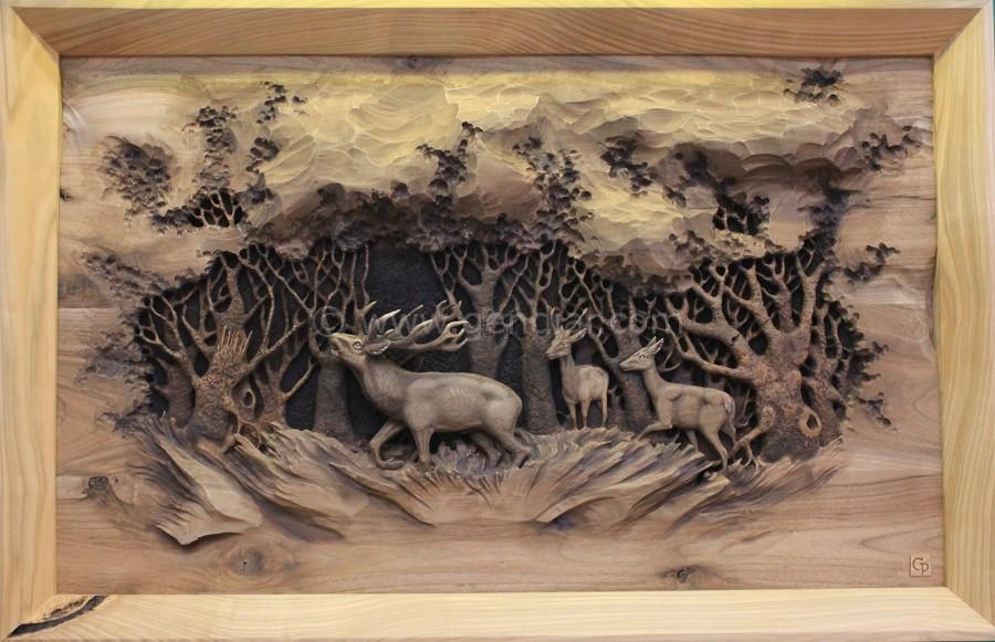 Obraz s témou poľovníctva, Image with hunting theme, Bild mit Jagdthema