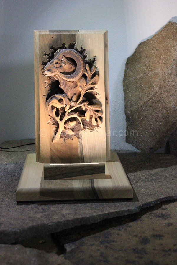 Rezba muflón lesný (Ovis aries musimon)