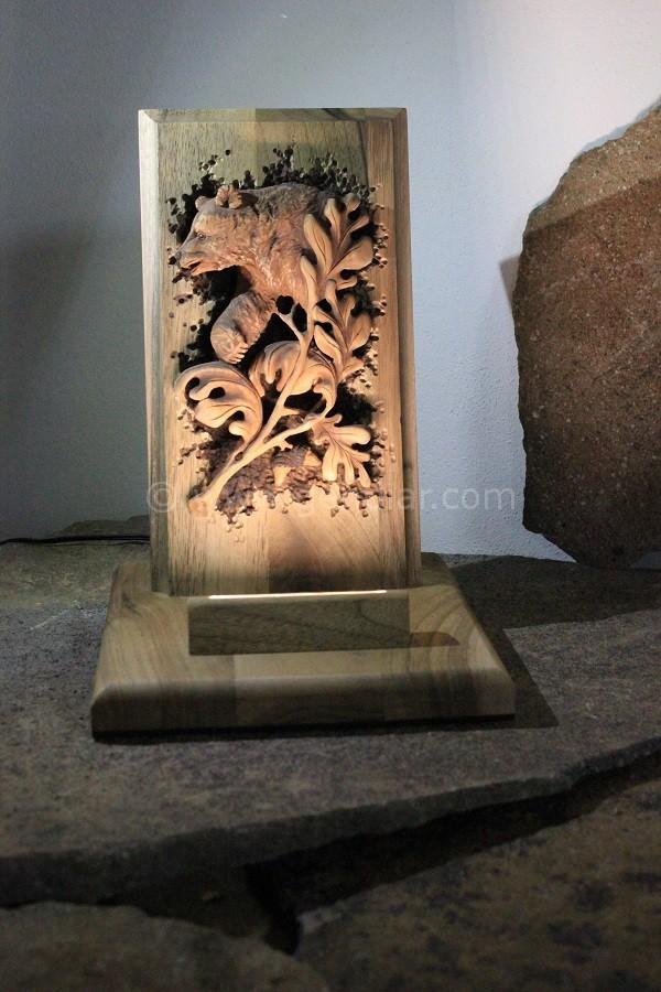 Rezba do dreva vzor medveď hnedý, Holzschnitzer Braunbär