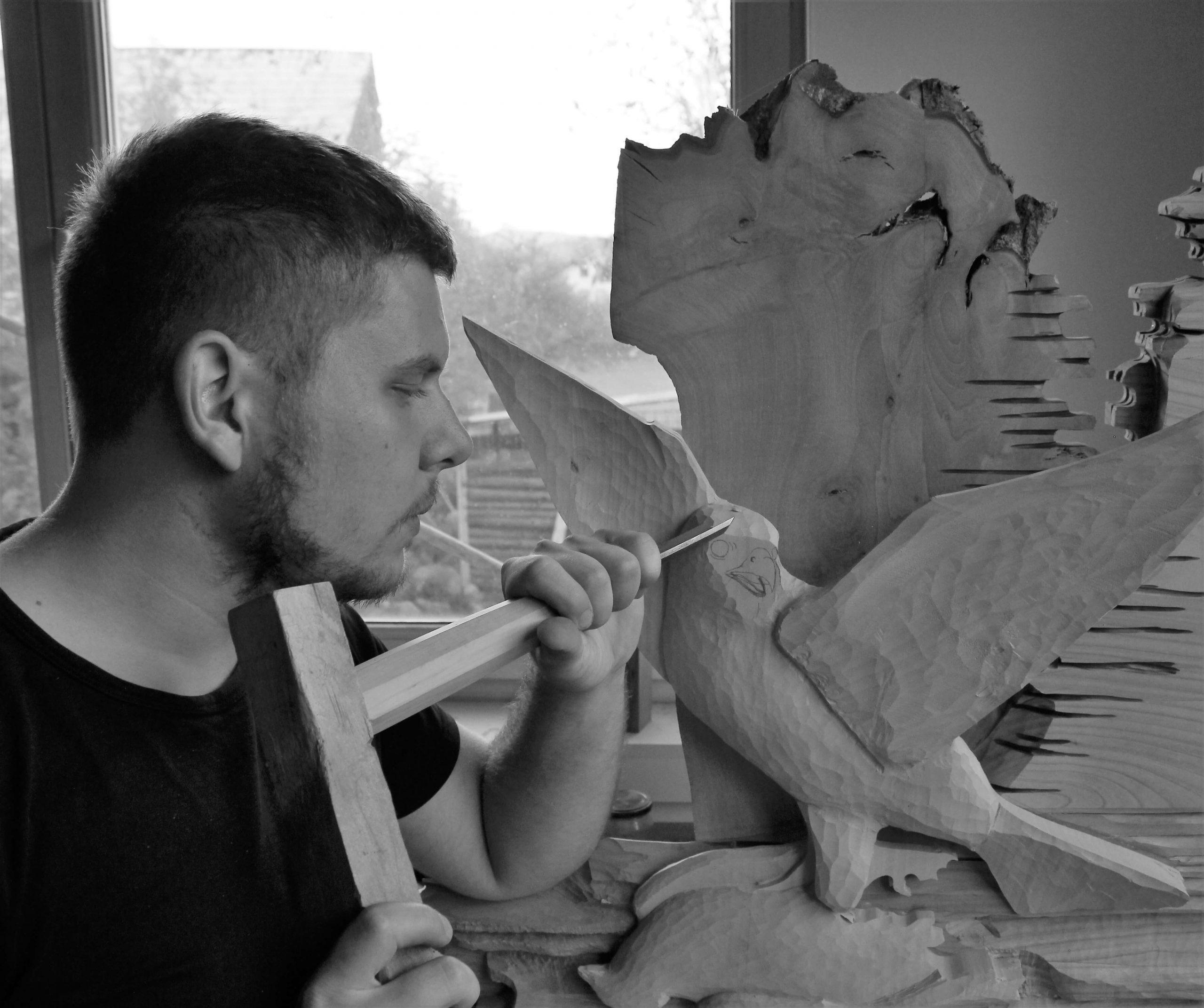 Patrik Gendiar - umelecký rezbár, art carver, Kunstschnitzer