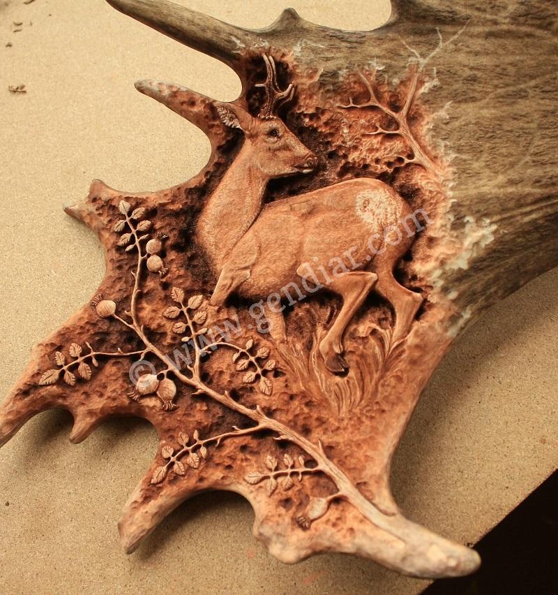 Einzigartige Erzeugnisse, Unique product of antler